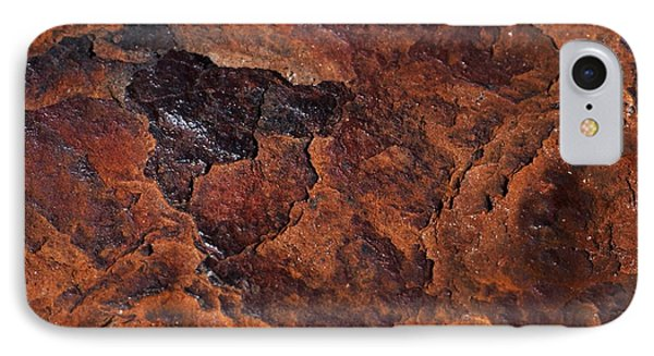 Topography Of Rust IPhone Case by Rona Black