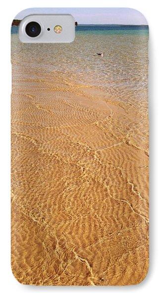 Torch Lake Sandbar IPhone Case by Michelle Calkins