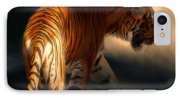 IPhone Case featuring the digital art Torch Tiger 3 by Aaron Blaise