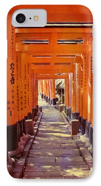 Torii Gates At The Fushimi Inari Shrine IPhone Case by Juli Scalzi