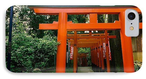 Torii Gates In A Park, Ueno Park IPhone Case