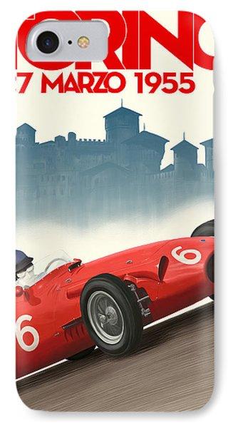 Torino Grand Prix 1955 IPhone Case by Georgia Fowler
