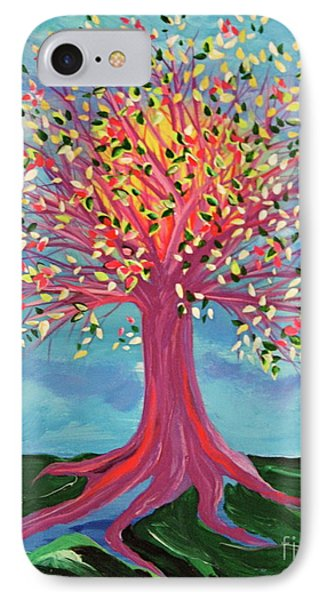 IPhone Case featuring the painting Tori's Tree By Jrr by First Star Art
