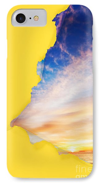 Torn Paper Sunrise Phone Case by Jo Ann Snover