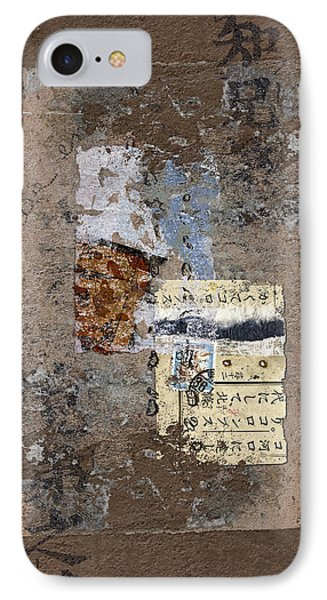 Torn Papers On Wall IPhone Case by Carol Leigh