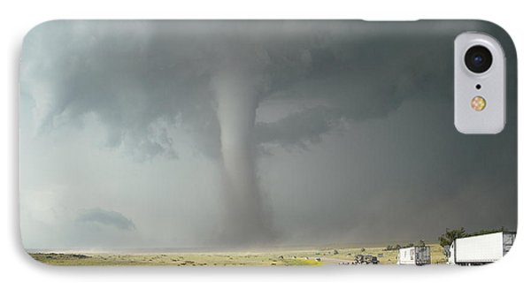 IPhone Case featuring the photograph Tornado Truck Stop by Ed Sweeney