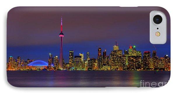 Toronto By Night... Phone Case by Nina Stavlund
