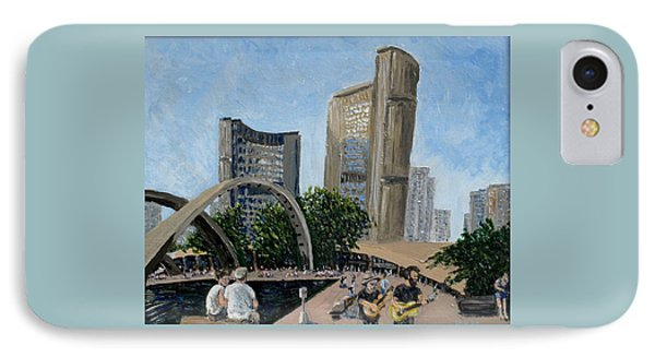 Toronto City Hall IPhone Case by Ian  MacDonald