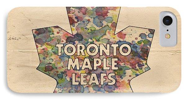 Toronto Maple Leafs Hockey Poster Phone Case by Florian Rodarte