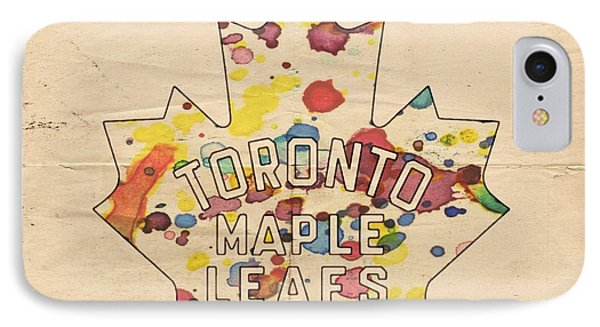Toronto Maple Leafs Vintage Poster Phone Case by Florian Rodarte