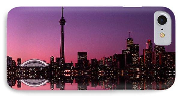 Toronto Skyline At Sunset, Toronto Phone Case by Alan Marsh