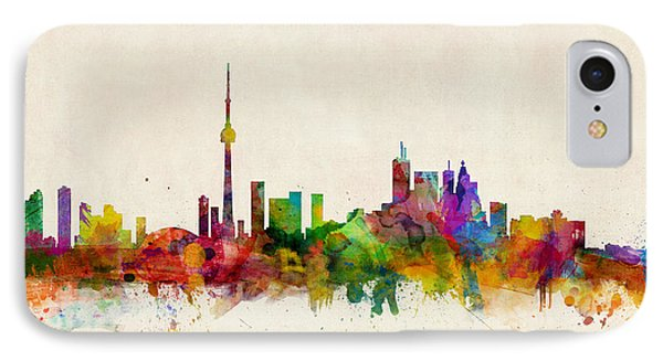 Toronto Skyline IPhone Case by Michael Tompsett