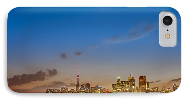 Toronto Skyline Phone Case by Sebastian Musial