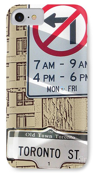 Toronto Street Sign IPhone Case by Nina Silver