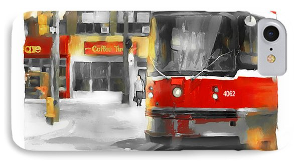 IPhone Case featuring the painting Toronto Streets 1 by Bob Salo
