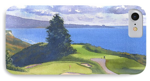 Torrey Pines Golf Course North Course Hole #6 IPhone 7 Case by Mary Helmreich