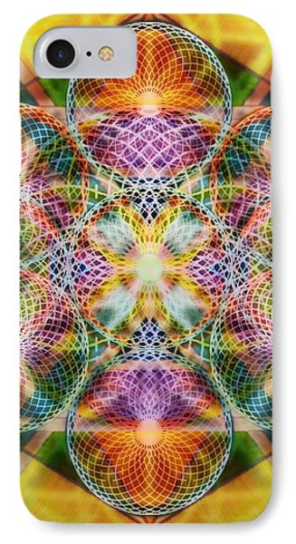 Torusphere Synthesis Bright Beginning Soulin I Phone Case by Christopher Pringer