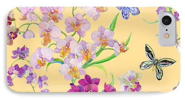 Tossed Orchids IPhone 7 Case by Kimberly McSparran