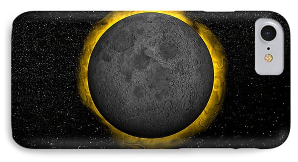 Total Eclipse Of The Sun IPhone Case by Elena Duvernay