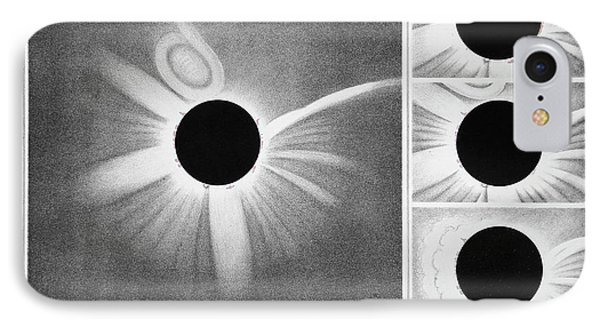 Total Solar Eclipse Of 18 July 1860 IPhone Case