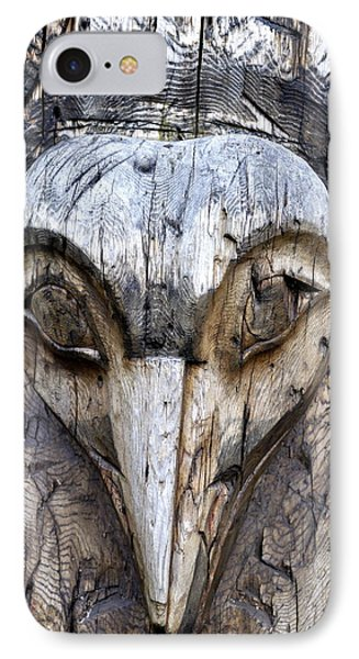 Totem Face IPhone Case by Cathy Mahnke
