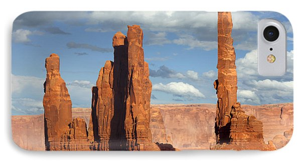 Totem Pole - Monument Valley IPhone Case by Mike McGlothlen