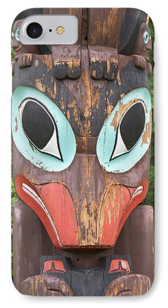 Totem Pole, Vancouver, British IPhone Case by William Sutton