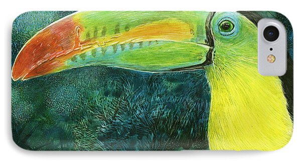 IPhone Case featuring the drawing Toucan by Sandra LaFaut