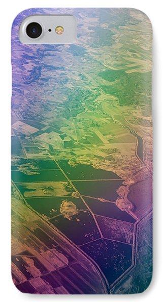 Touch Of Rainbow. Rainbow Earth IPhone Case by Jenny Rainbow
