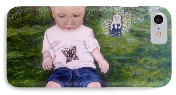IPhone Case featuring the painting Touched By A Butterfly Kiss by Kimberlee Baxter