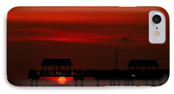 Touching The Sunset IPhone Case by Richard Zentner