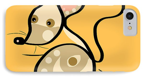 Thoughts And Colors Series Mouse IPhone Case by Veronica Minozzi