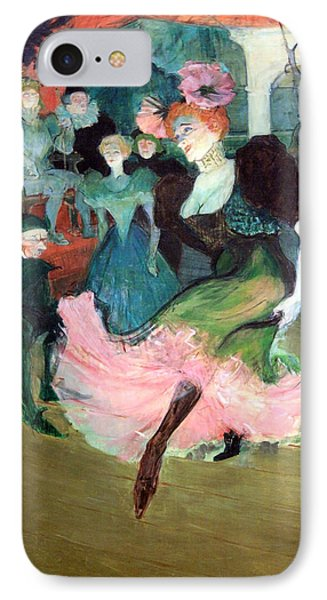 Toulouse Lautrec's Marcelle Lender Dancing The Bodero In Chilperic Up Close IPhone Case by Cora Wandel