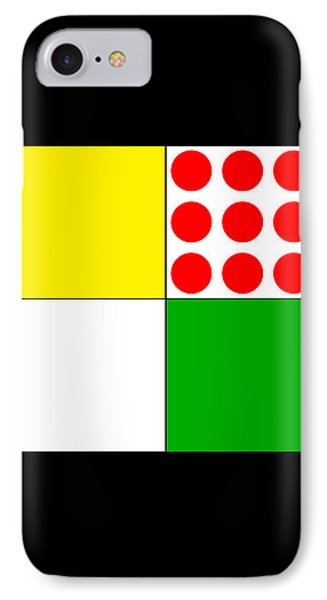 IPhone Case featuring the digital art Tour De France Jerseys 1 Black by Brian Carson