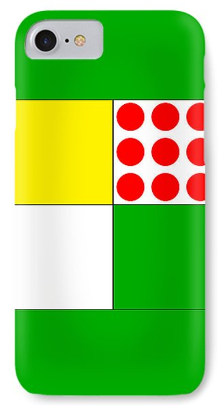 IPhone Case featuring the digital art Tour De France Jerseys 1 Green by Brian Carson
