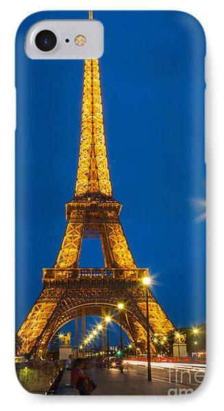 Tour Eiffel De Nuit Phone Case by Inge Johnsson