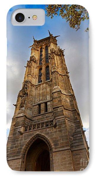 Tour St Jacques In Autumn Paris Phone Case by Louise Heusinkveld