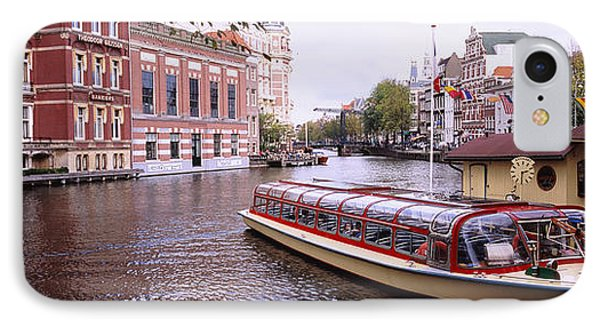 Tourboat In A Channel, Amsterdam IPhone Case by Panoramic Images