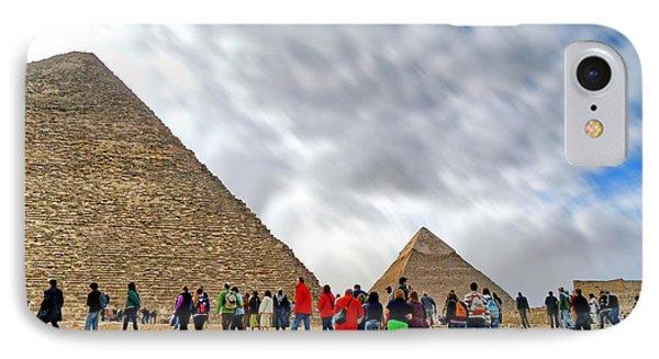 Tourism Fogh At Giza Pyramids  Phone Case by Karam Halim