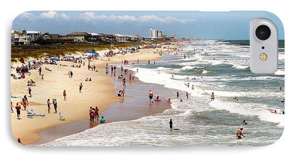 Tourist At Kure Beach IPhone Case by Cynthia Guinn