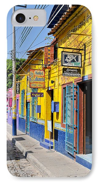 IPhone Case featuring the photograph Tourist Shops - Mexico by David Perry Lawrence