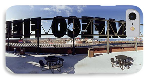 Tourist Sitting On A Roof IPhone Case by Panoramic Images