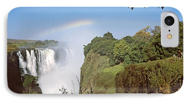 Tourists At A Viewing Point Looking IPhone Case by Panoramic Images
