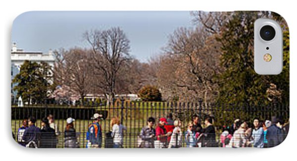 Tourists In Front Of White House IPhone Case by Panoramic Images