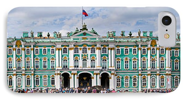 Tourists In Front Of Winter Palace IPhone Case by Panoramic Images