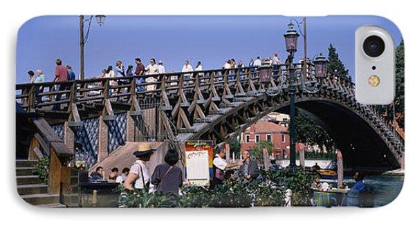 Tourists On A Bridge, Accademia Bridge IPhone Case