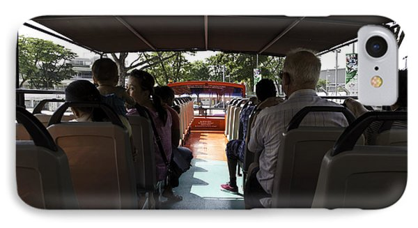 Tourists On The Sight-seeing Bus Run By The Hippo Company In Singapore Phone Case by Ashish Agarwal