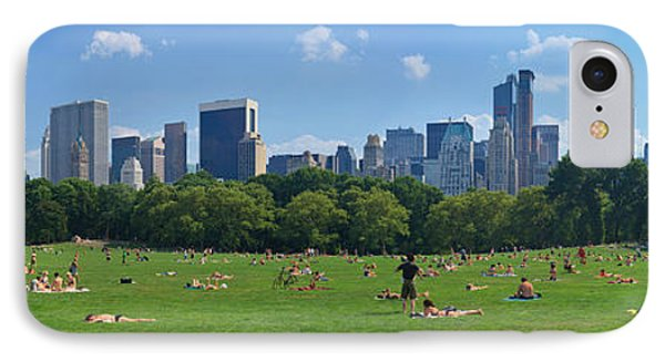 Tourists Resting In A Park, Sheep IPhone Case by Panoramic Images