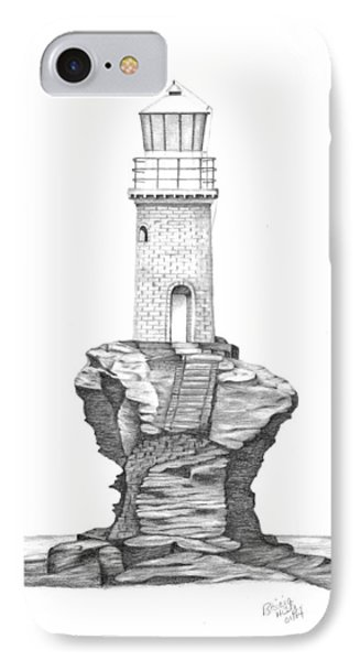 Tourlitis Lighthouse-greece IPhone Case by Patricia Hiltz