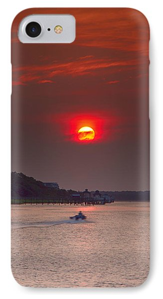 IPhone Case featuring the photograph Toward An Angry Sun by Alan Raasch